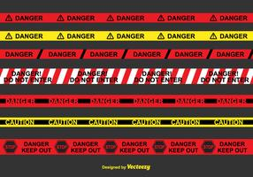Danger Tape Vector Set