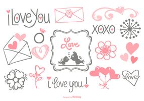 Cute Hand Drawn Love Doodles