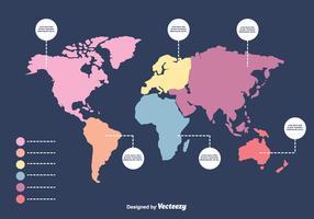 Infographic Mapa Mundi Vector
