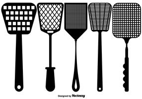 Vector Flat Fly Swatter Icons