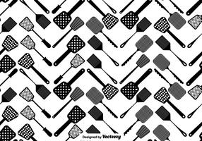Vector Fly Swatter Seamless Pattern