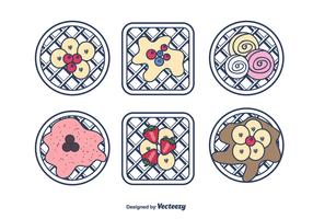 Sweet Waffles Vector