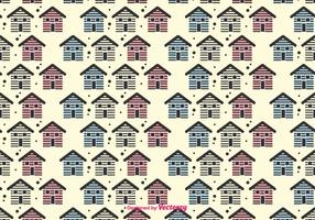 Small Houses Vector Pattern