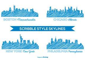 Scribble Style Skyline Set