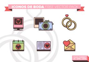 Iconos De Boda Free Vector Pack