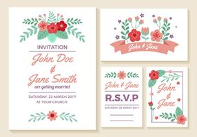 Wedding Invitation Cards Vector