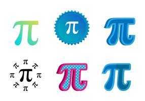 Blue Pi Symbol Vectors
