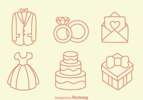 Sketch Wedding Element Vectors