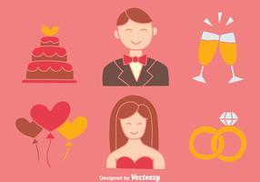 Nice Wedding Element Collection Vectors