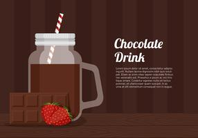 Chocolate Drinking Jar Template Free Vector