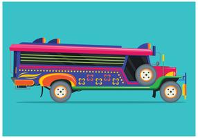 Free Jeepney Illustration Vector