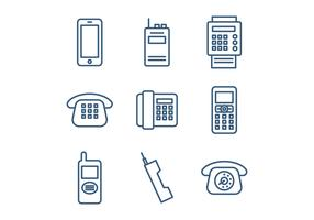 Set Of Telephone Icons