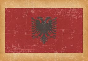 Flag of Albania on Grunge Background