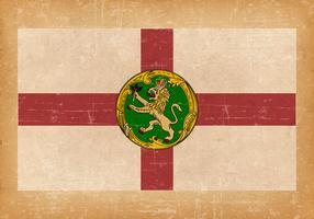 Flag of Alderney on Grunge Style Background