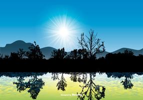 Beautiful Landscape Scene with Water Reflection
