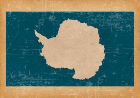 Flag of Antarctica on Grunge Background