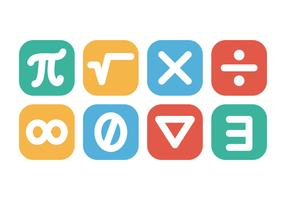 Mathematic Symbol Icon Vectors