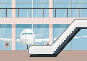 Escalator Airport Free Vector