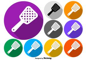Vector Colorful Fly Swatter Buttons