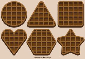 Vector Set Of Belgium Waffles