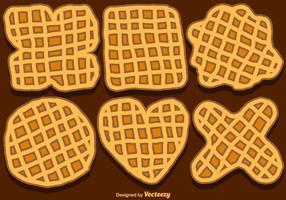 Vector Set Of Hand-Drawn Belgium Waffles