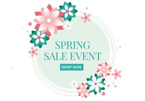 Free Spring Season Sale Vector Background