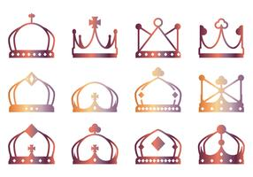 Lineart Crown Icons
