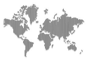 Line World Map Vector