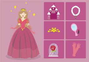 Princesa cartoon element