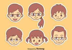 Nice Cartoon Family Vector