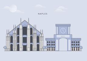 Naples City Landmarks Vector