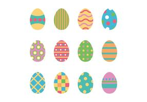Set Of Colorful Easter Eggs