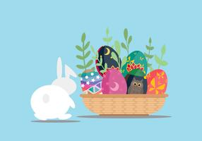 Cute Easter Egg Vector Illustration
