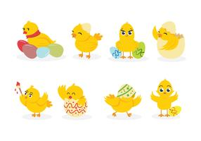 Easter Chick Vectors