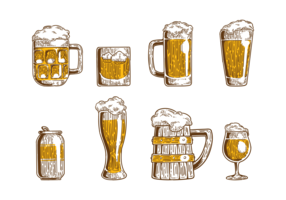 Cerveja Icons Vector