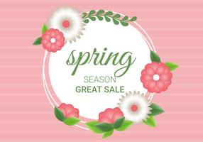 Free Spring Season Decoration Vector Background