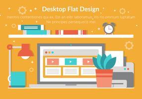 Free Vector Flat Design Desktop Elements
