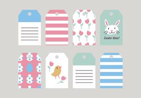 Hand Drawn Easter Tags Vectors