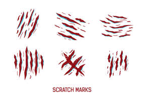 Red Scratch Marks Vector