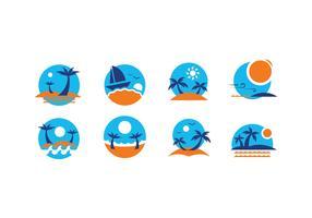 Summer Beach Icon Vectors