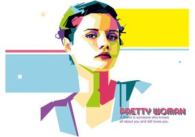 Pretty Woman vector WPAP