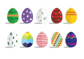 Easter Eggs Flat Design Vectors