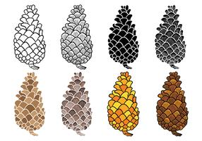 Free Pine Cones Vector Icons