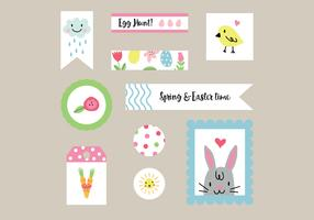 Colorful Easter Tags Vectors