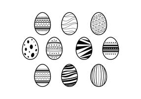 Free Easter Eggs Illustration Vector