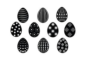 Free Easter Eggs Silhouette Vector