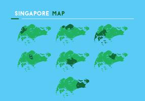 Singapore Map Vectors