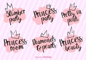 Vector Princess Party Phrases