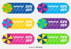 Set Of Coupon Sale Vectors