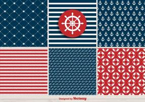 Vector Set Of Retro Navy Patterns